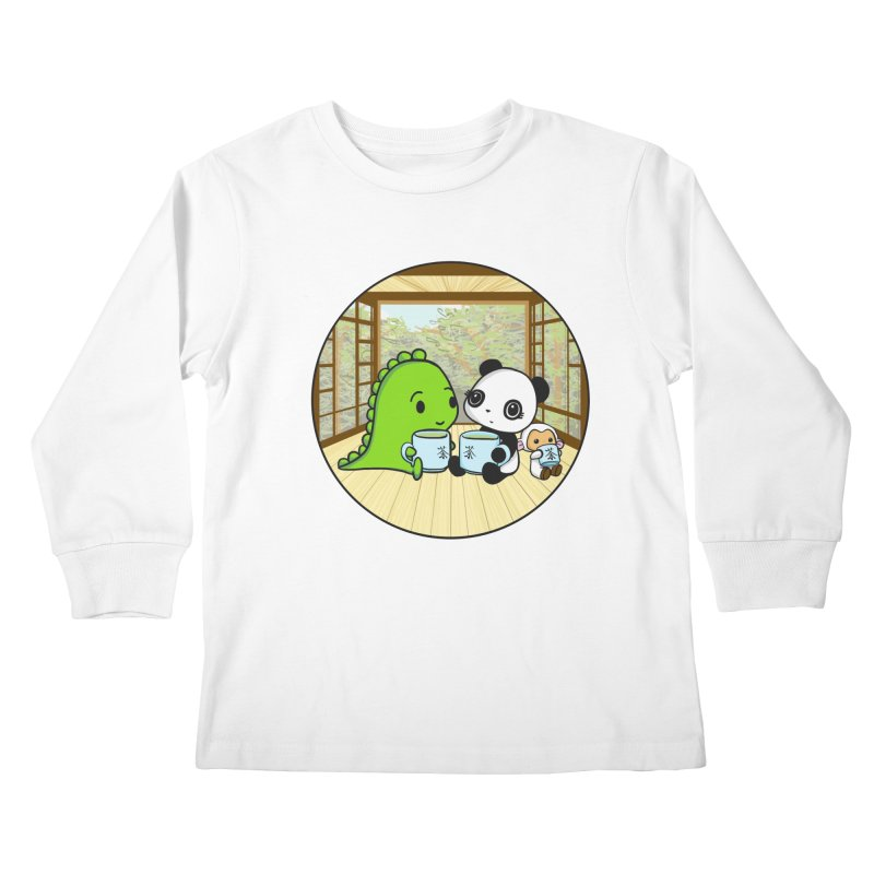 Japanese Tea House Kids Longsleeve T-Shirt by Dino & Panda Inc Artist Shop
