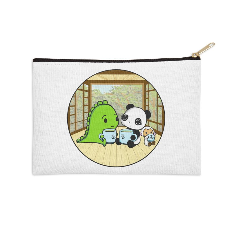 Japanese Tea House Accessories Zip Pouch by Dino & Panda Inc Artist Shop