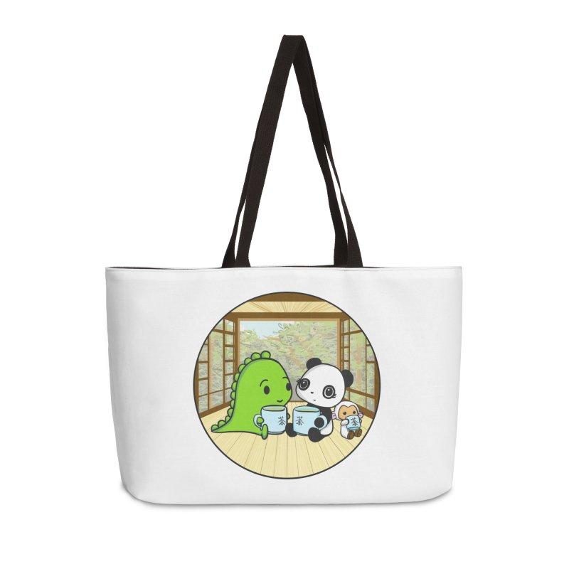 Japanese Tea House Accessories Weekender Bag Bag by Dino & Panda Inc Artist Shop