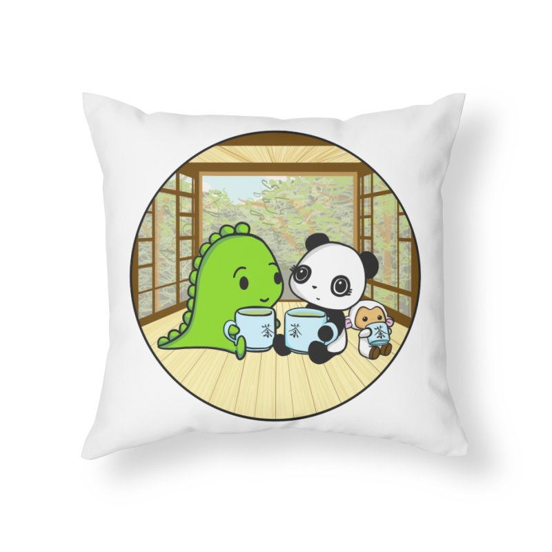 Japanese Tea House Home Throw Pillow by Dino & Panda Inc Artist Shop