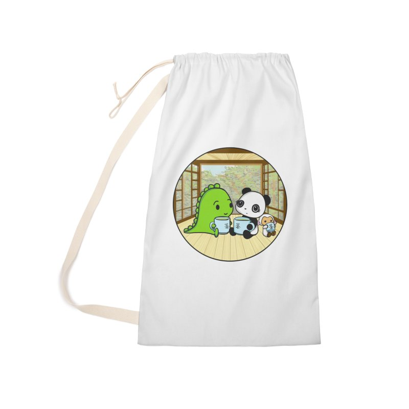 Japanese Tea House Accessories Laundry Bag Bag by Dino & Panda Inc Artist Shop