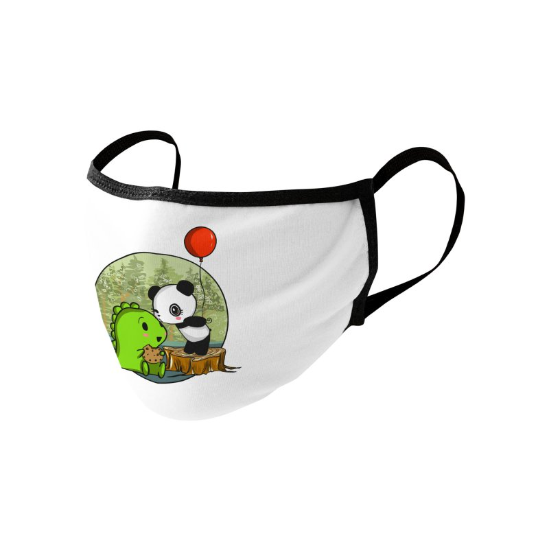 Cookies and Kisses Accessories Face Mask by Dino & Panda Artist Shop