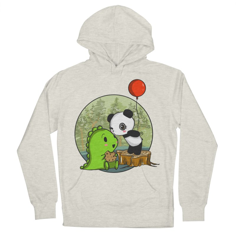 Cookies and Kisses Men's French Terry Pullover Hoody by Dino & Panda Inc Artist Shop