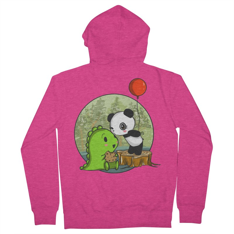 Cookies and Kisses Women's French Terry Zip-Up Hoody by Dino & Panda Inc Artist Shop