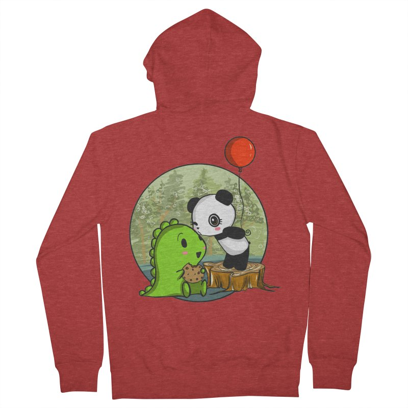 Cookies and Kisses Men's Zip-Up Hoody by Dino & Panda Inc Artist Shop