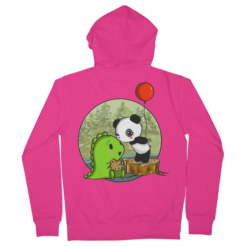Cookies and Kisses Men's French Terry Zip-Up Hoody by Dino & Panda Inc Artist Shop