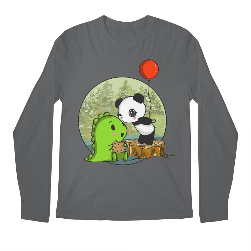 Cookies and Kisses Men's Regular Longsleeve T-Shirt by Dino & Panda Inc Artist Shop