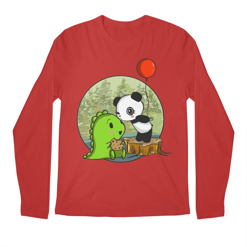 Cookies and Kisses Men's Regular Longsleeve T-Shirt by Dino & Panda Inc Artist Shop