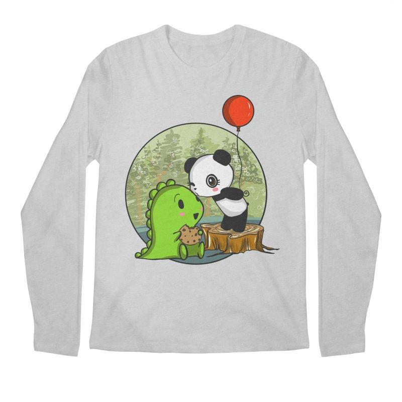 Cookies and Kisses Men's Longsleeve T-Shirt by Dino & Panda Inc Artist Shop