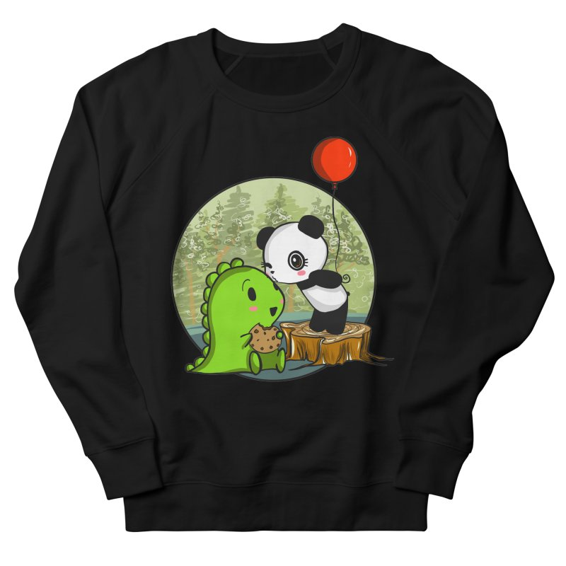 Cookies and Kisses Men's French Terry Sweatshirt by Dino & Panda Inc Artist Shop