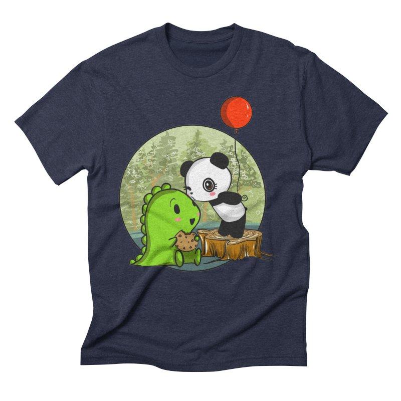 Cookies and Kisses Men's Triblend T-Shirt by Dino & Panda Inc Artist Shop