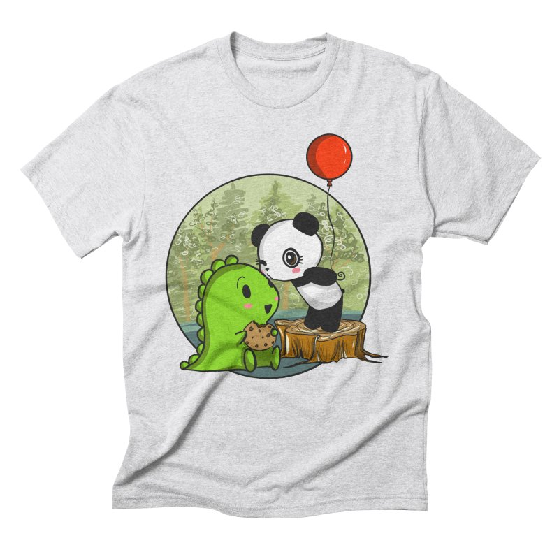 Cookies and Kisses Men's Triblend T-Shirt by Dino & Panda Inc Artist Shop