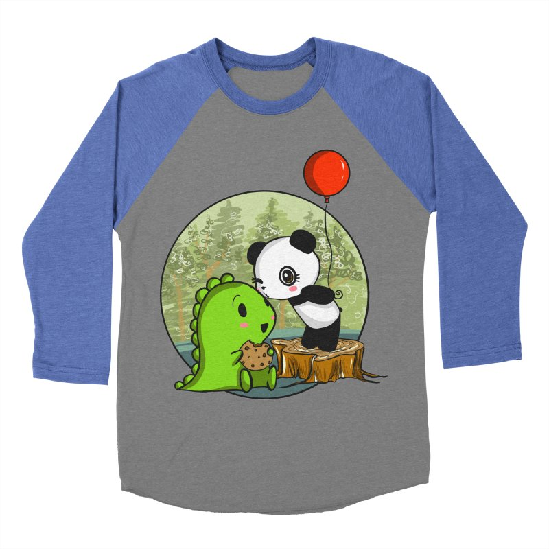 Cookies and Kisses Women's Baseball Triblend Longsleeve T-Shirt by Dino & Panda Inc Artist Shop