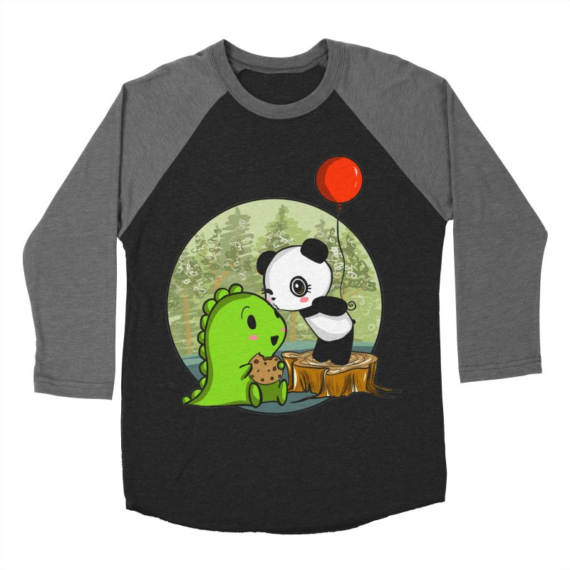 Cookies and Kisses Women's Baseball Triblend Longsleeve T-Shirt by Dino & Panda Inc Artist Shop