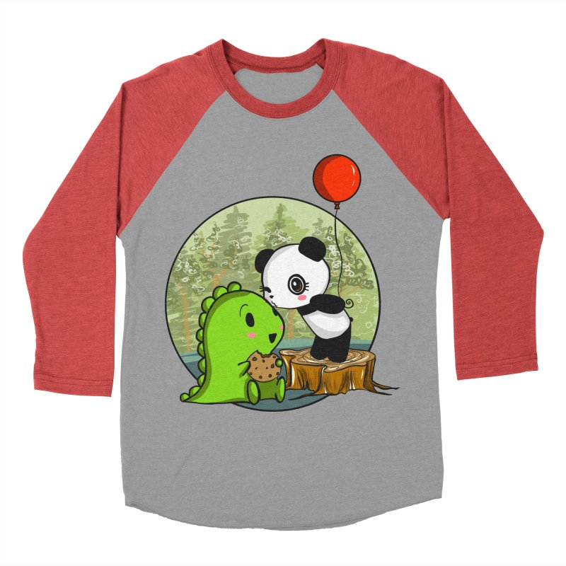 Cookies and Kisses Men's Baseball Triblend Longsleeve T-Shirt by Dino & Panda Inc Artist Shop