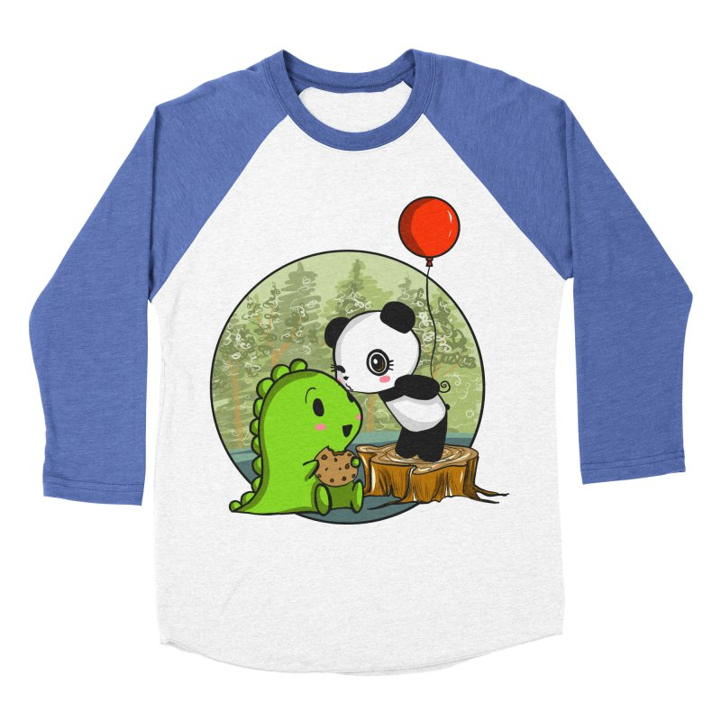 Cookies and Kisses Men's Baseball Triblend Longsleeve T-Shirt by Dino & Panda Inc Artist Shop