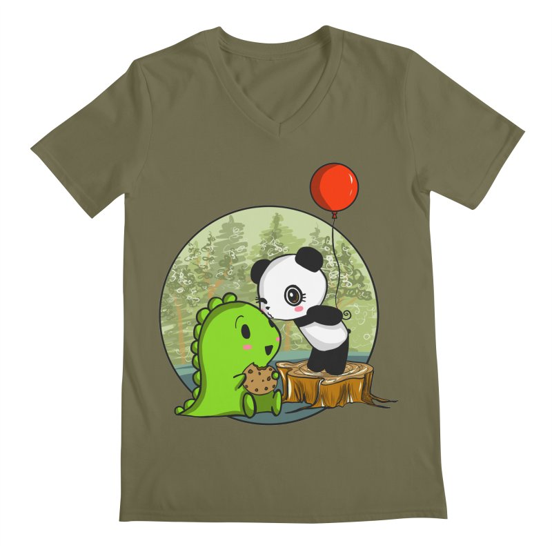 Cookies and Kisses Men's Regular V-Neck by Dino & Panda Inc Artist Shop