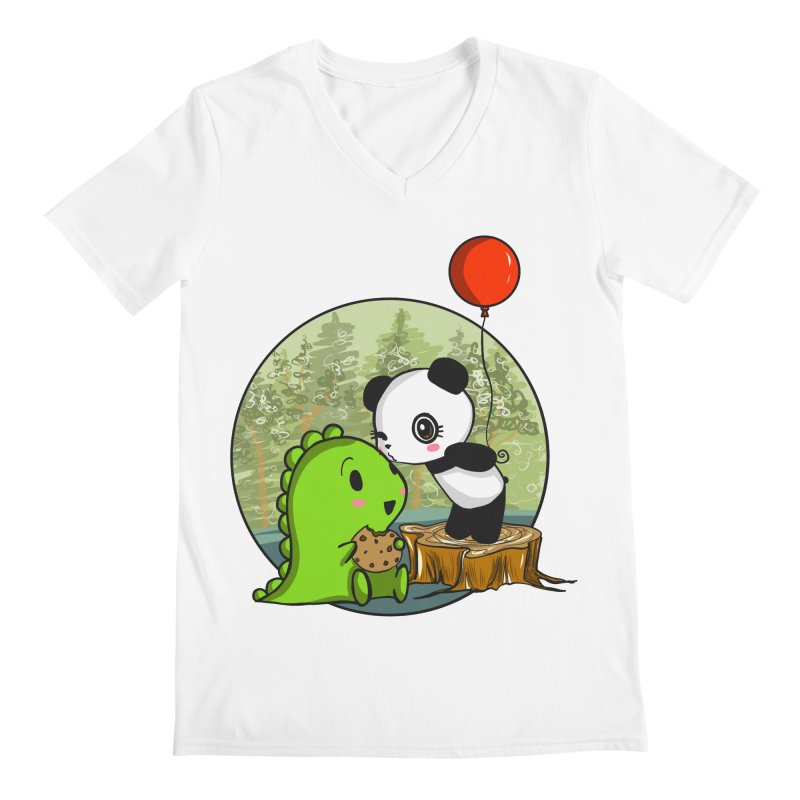 Cookies and Kisses Men's V-Neck by Dino & Panda Inc Artist Shop