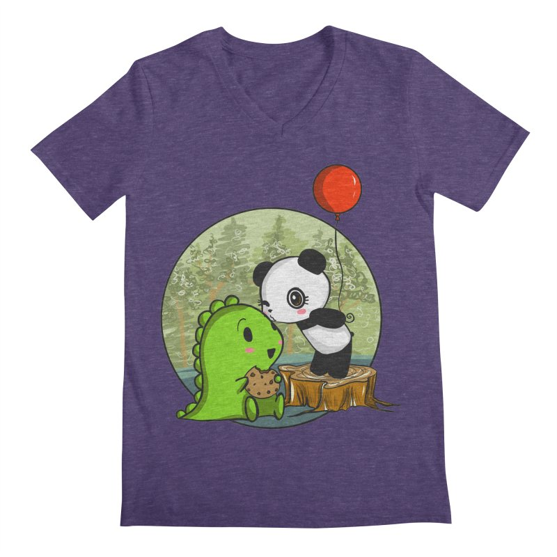 Cookies and Kisses Men's Regular V-Neck by Dino & Panda Inc Artist Shop