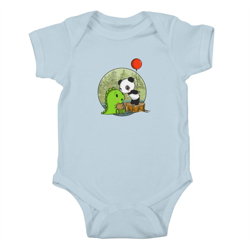 Cookies and Kisses Kids Baby Bodysuit by Dino & Panda Inc Artist Shop