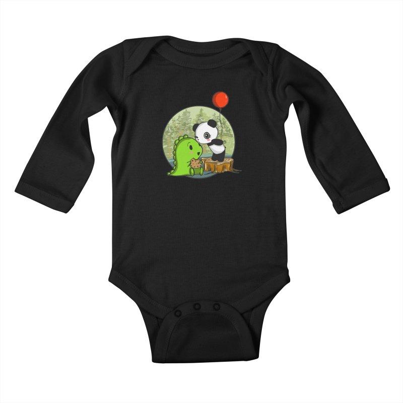 Cookies and Kisses Kids Baby Longsleeve Bodysuit by Dino & Panda Inc Artist Shop