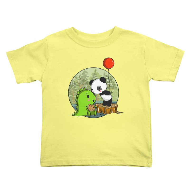 Cookies and Kisses Kids Toddler T-Shirt by Dino & Panda Inc Artist Shop