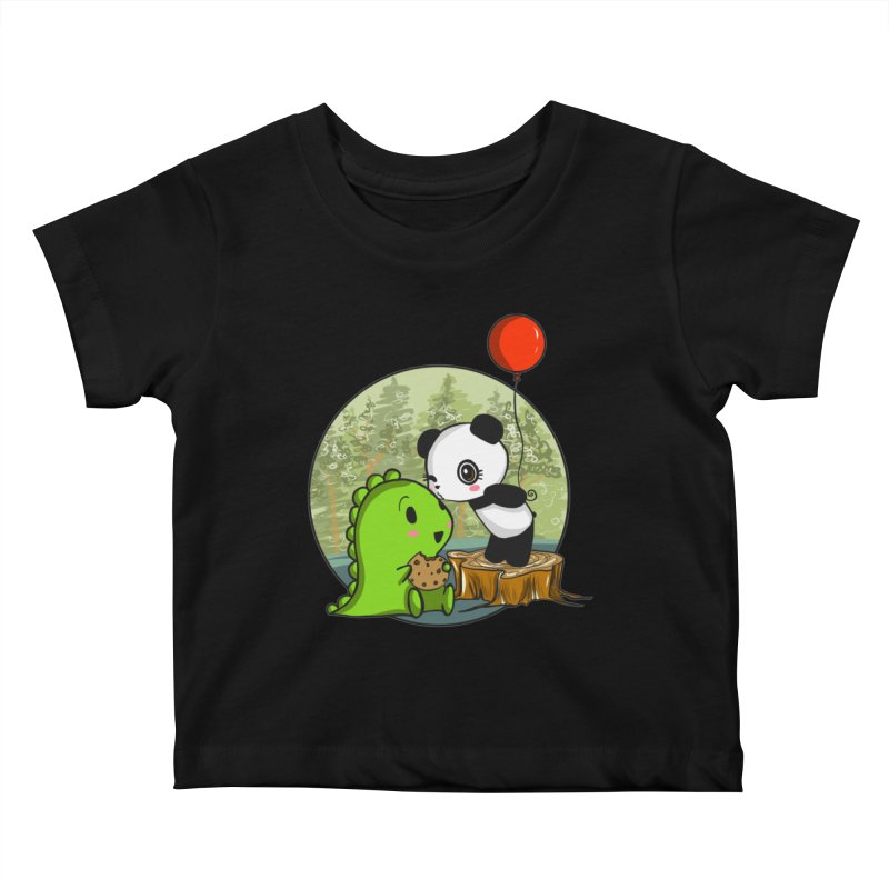 Cookies and Kisses Kids Baby T-Shirt by Dino & Panda Inc Artist Shop