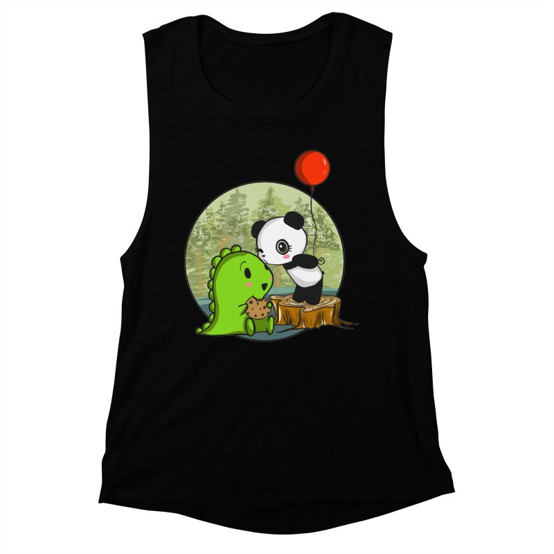 Cookies and Kisses Women's Muscle Tank by Dino & Panda Inc Artist Shop