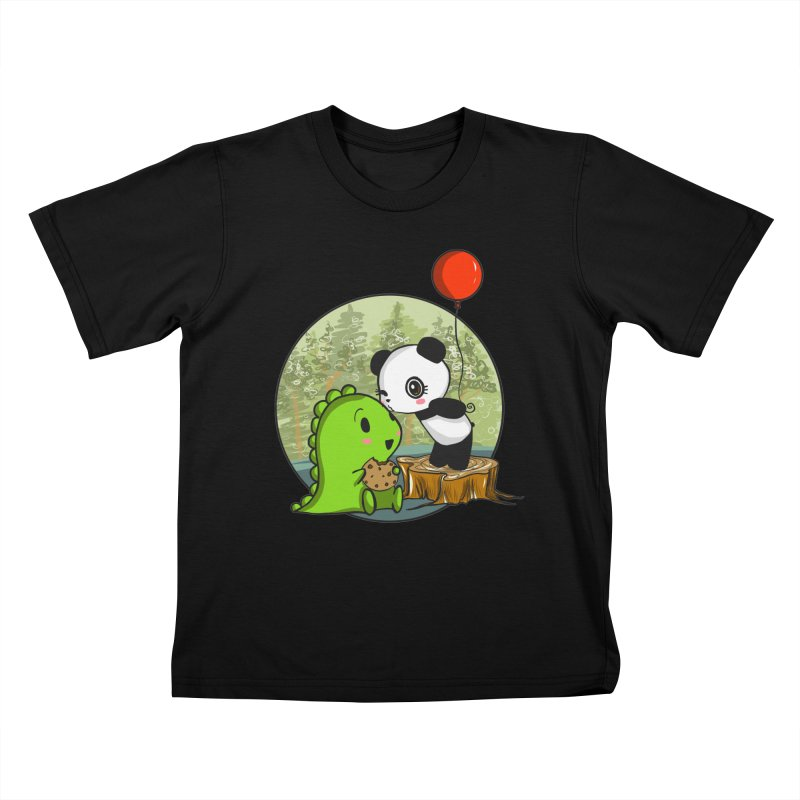 Cookies and Kisses Kids T-Shirt by Dino & Panda Inc Artist Shop