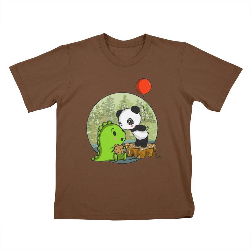 Cookies and Kisses Kids T-Shirt by Dino & Panda Inc Artist Shop