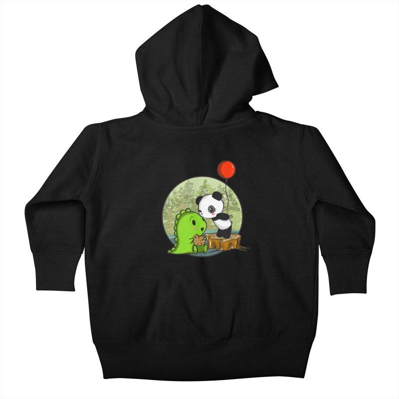 Cookies and Kisses Kids Baby Zip-Up Hoody by Dino & Panda Inc Artist Shop