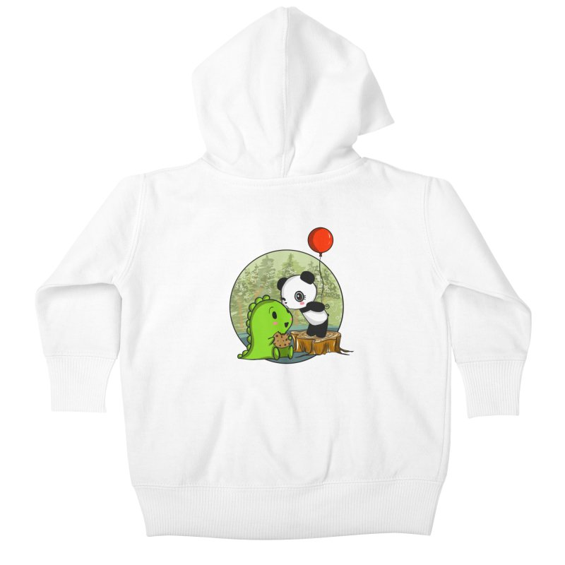Cookies and Kisses Kids Baby Zip-Up Hoody by Dino & Panda Inc Artist Shop
