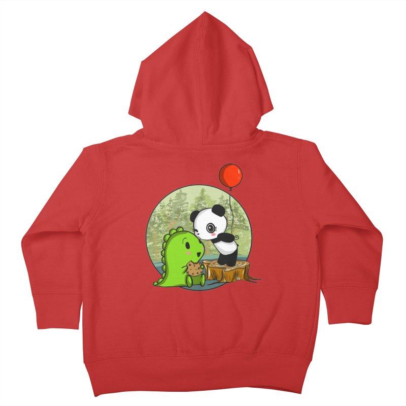Cookies and Kisses Kids Toddler Zip-Up Hoody by Dino & Panda Inc Artist Shop