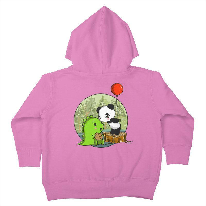 Cookies and Kisses Kids Toddler Zip-Up Hoody by Dino & Panda Inc Artist Shop