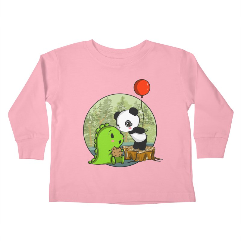 Cookies and Kisses Kids Toddler Longsleeve T-Shirt by Dino & Panda Inc Artist Shop
