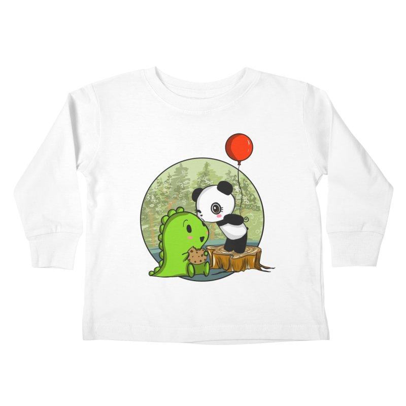 Cookies and Kisses Kids Toddler Longsleeve T-Shirt by Dino & Panda Inc Artist Shop