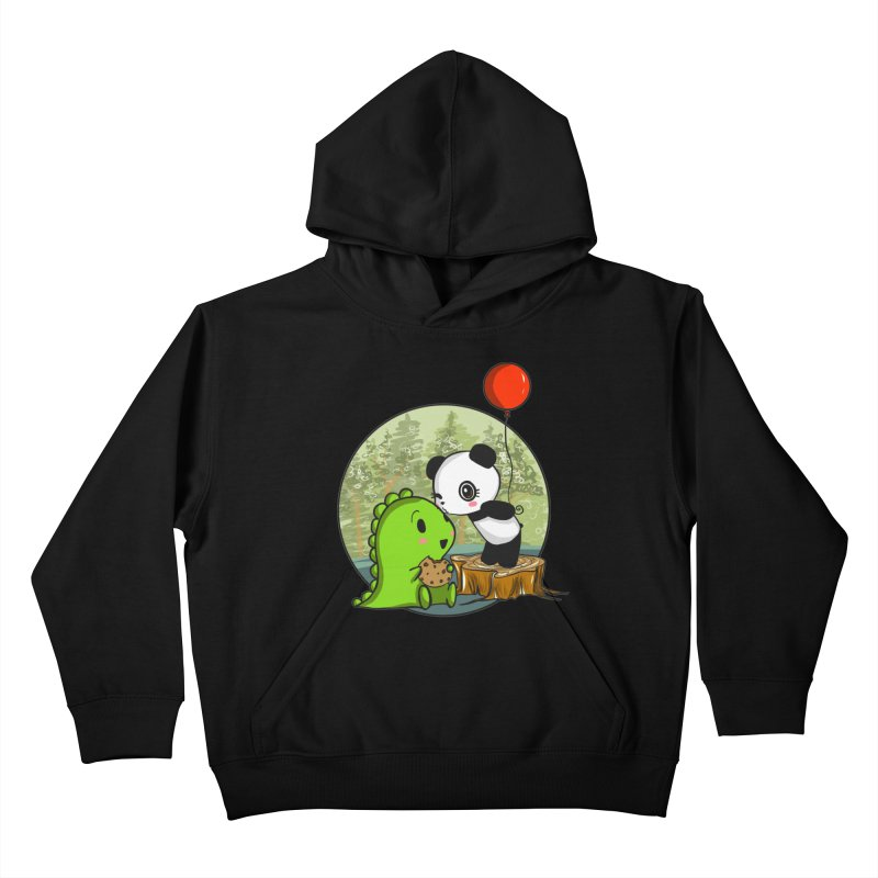 Cookies and Kisses Kids Pullover Hoody by Dino & Panda Inc Artist Shop