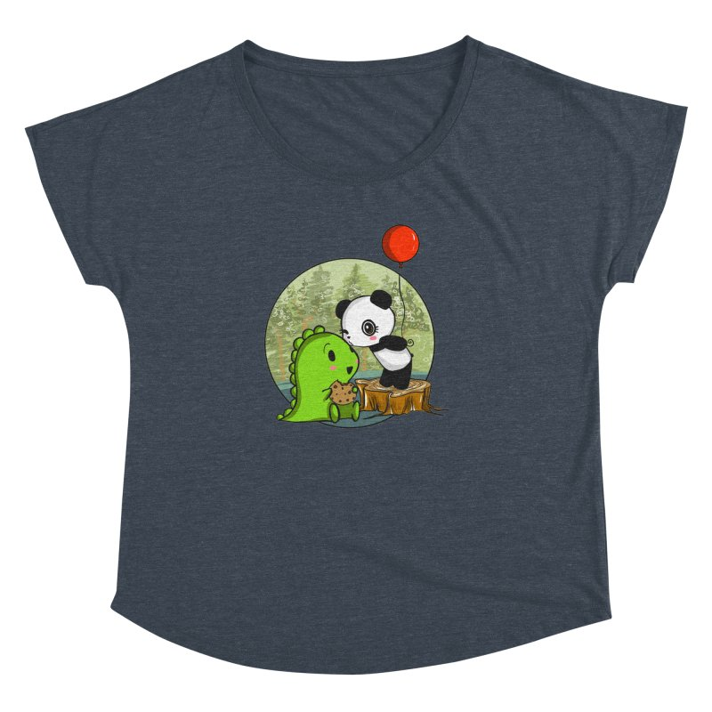 Cookies and Kisses Women's Dolman Scoop Neck by Dino & Panda Inc Artist Shop