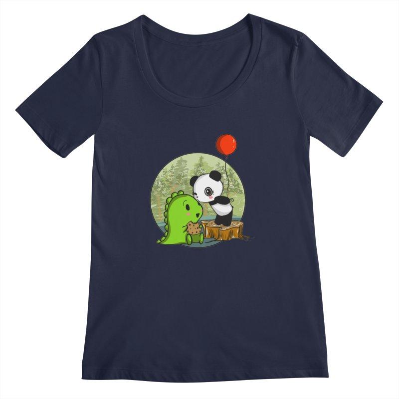 Cookies and Kisses Women's Regular Scoop Neck by Dino & Panda Inc Artist Shop