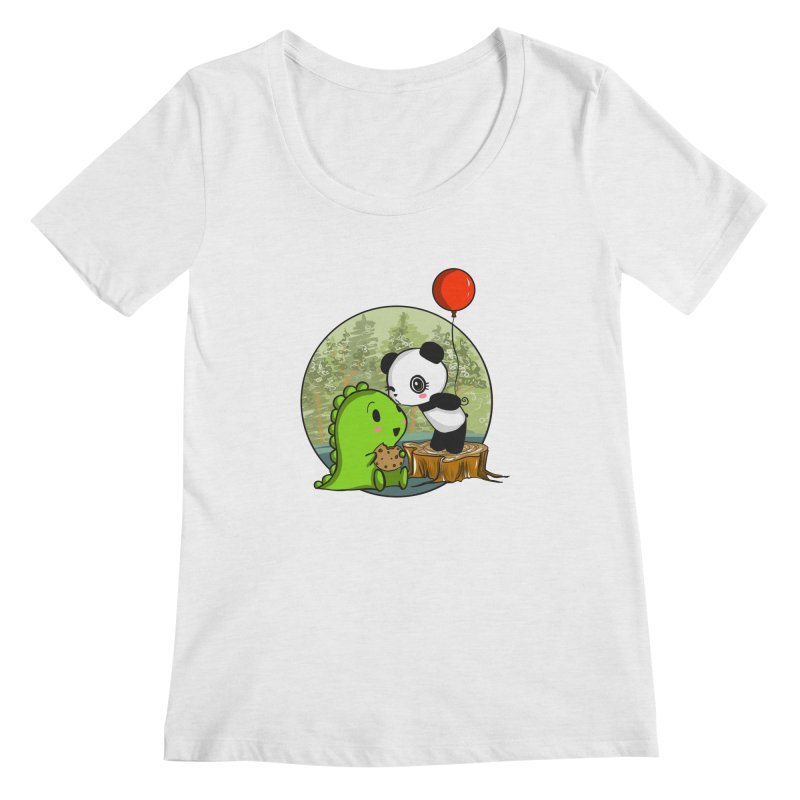 Cookies and Kisses Women's Regular Scoop Neck by Dino & Panda Inc Artist Shop