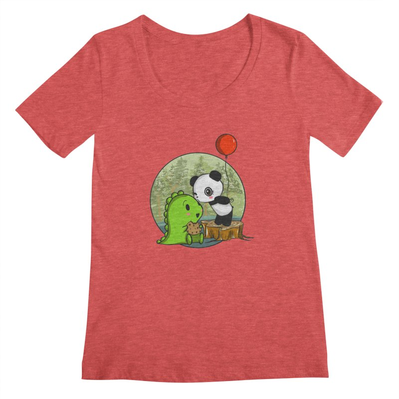 Cookies and Kisses Women's Scoopneck by Dino & Panda Inc Artist Shop
