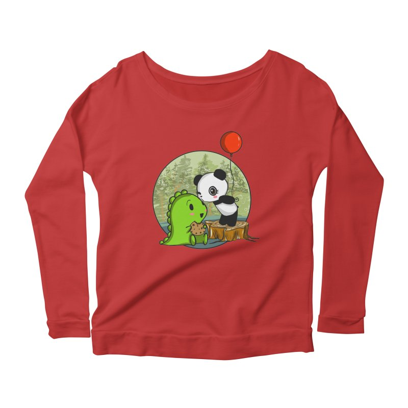Cookies and Kisses Women's Scoop Neck Longsleeve T-Shirt by Dino & Panda Inc Artist Shop