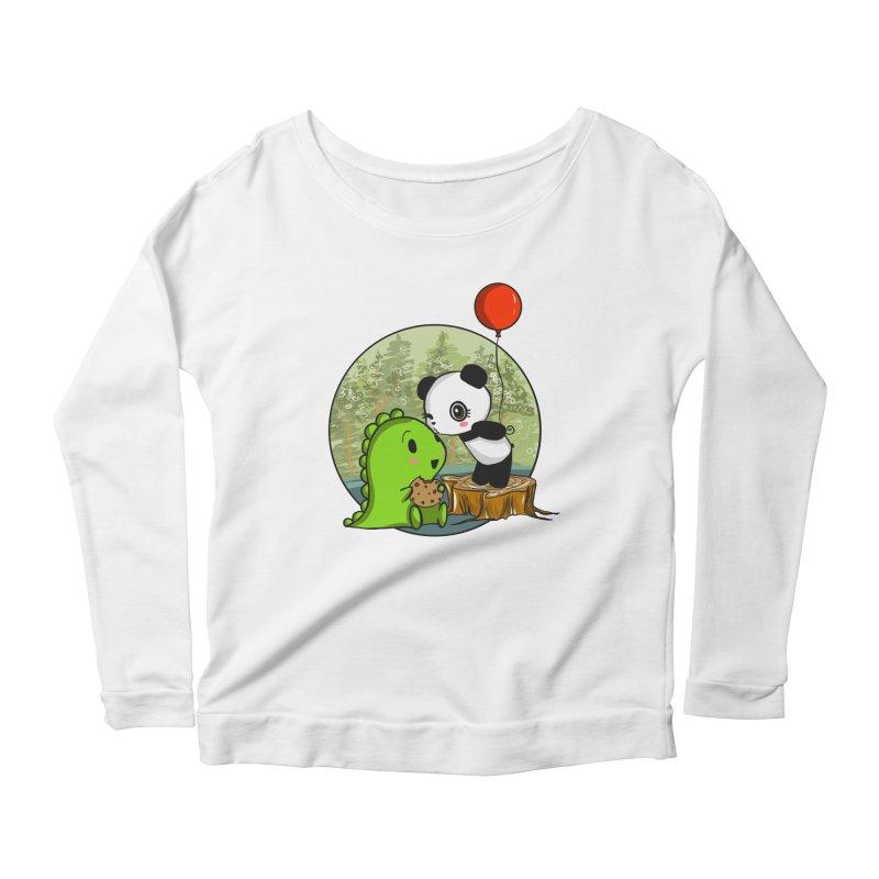 Cookies and Kisses Women's Scoop Neck Longsleeve T-Shirt by Dino & Panda Inc Artist Shop