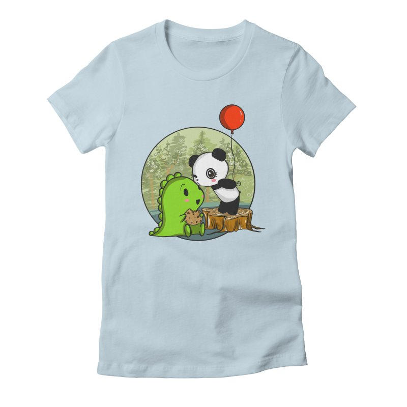 Cookies and Kisses Women's Fitted T-Shirt by Dino & Panda Inc Artist Shop