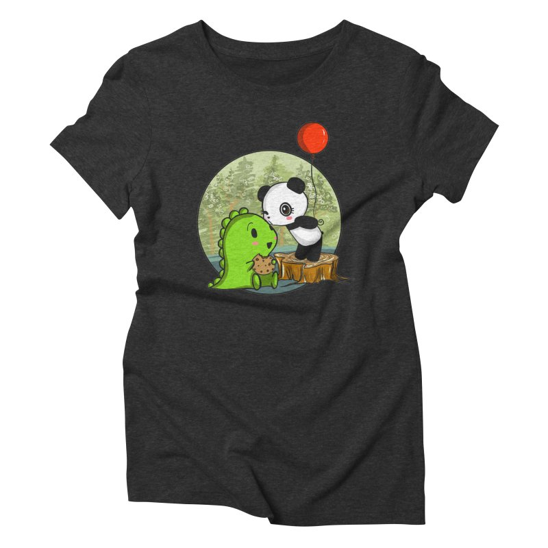 Cookies and Kisses Women's Triblend T-Shirt by Dino & Panda Inc Artist Shop
