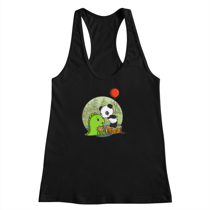 Cookies and Kisses Women's Racerback Tank by Dino & Panda Inc Artist Shop