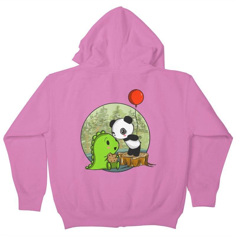 Cookies and Kisses Kids Zip-Up Hoody by Dino & Panda Inc Artist Shop