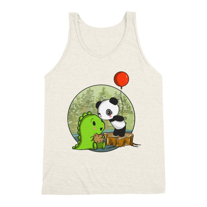 Cookies and Kisses Men's Triblend Tank by Dino & Panda Inc Artist Shop