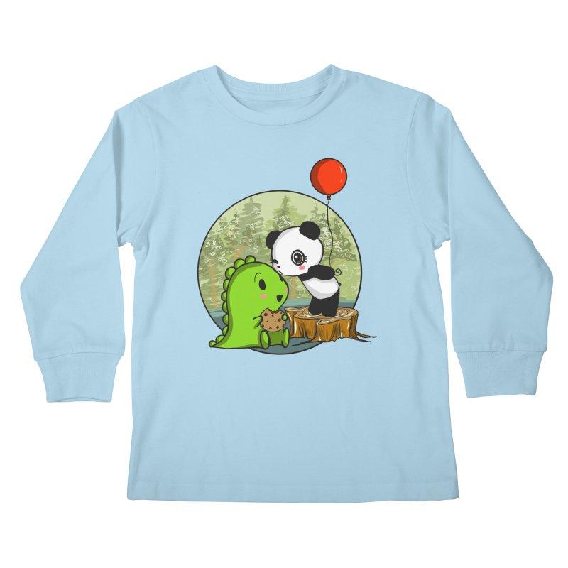Cookies and Kisses Kids Longsleeve T-Shirt by Dino & Panda Inc Artist Shop