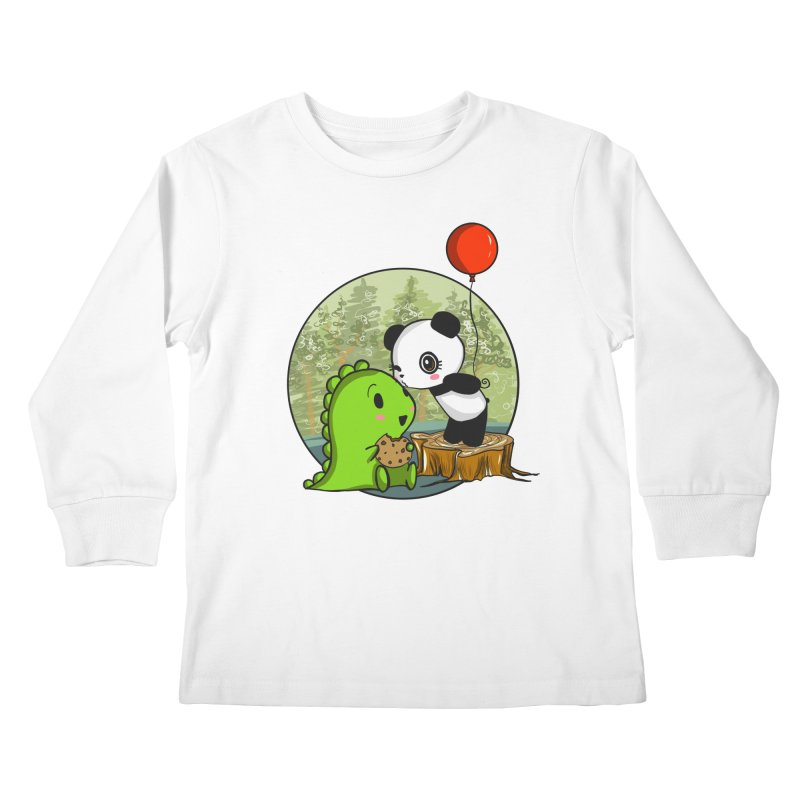 Cookies and Kisses Kids Longsleeve T-Shirt by Dino & Panda Inc Artist Shop